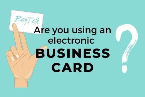 How to make a digitalbusiness card